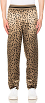 3.1 Phillip Lim Reversible Cropped Elastic Waist Pajama Pant in White,Brown,Animal Print.