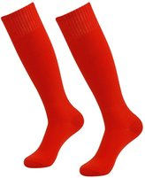 3street Unisex Vintage Knee High Solid Football Team Tube Socks White 6 Pairs