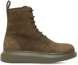 Alexander McQueen 45MM HYBIRD SUEDE LACE-UP BOOTS
