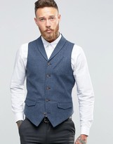 Asos Vest in Houndstooth with Shawl Collar