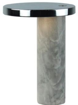 Aromas - White Marble2 Led Table Lamp - marble | white - White/White