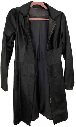 Amanda Wakeley Black Fur Coat for Women