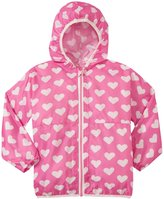 Hatley Pink Hearts Wind Breaker (Toddler/Kid) - Pink - 6