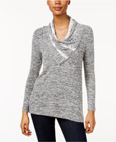 Style&Co. Style & Co. Petite Lace-Trim Space-Dyed Top, Only at Macy's