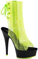 Pleaser USA Women's Delight 1018LA Open-Toe Ankle Boot