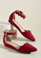 ModCloth Everywhere and Any Flair Sliver Wedge in Ruby in 6