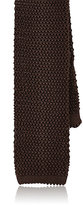 Barneys New York Men's Silk Necktie-DARK BROWN