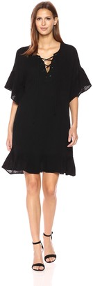 Velvet by Graham & Spencer Women's Bubble Gauze Laceup Dress