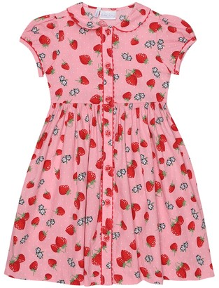 Rachel Riley Strawberry cotton dress