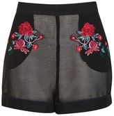 Embroidered pyjama shorts