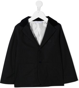 Patachou Fitted Single-Breasted Blazer