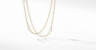 David Yurman Continuance Pearl Long Necklace With Diamonds