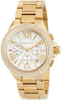 MICHAEL Michael Kors 43mm Camille Glitz Chronograph Bracelet Watch, Golden