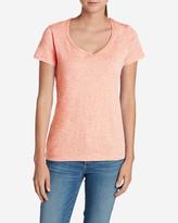 Eddie Bauer Women's Essential Slub Short-Sleeve V-Neck T-Shirt