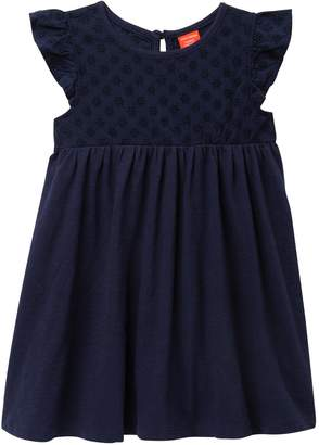 Joe Fresh Eyelet Bodice Dress (Toddler & Little Girls)