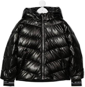 Givenchy Kids Padded Bomber Jacket