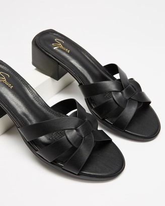 Spurr Women's Black Heeled Sandals - Lexa Heels - Size 10 at The Iconic