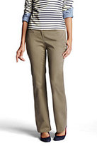 Lands' End Women's Not-Too-Low Rise Bootleg Chino Pants-Khaki