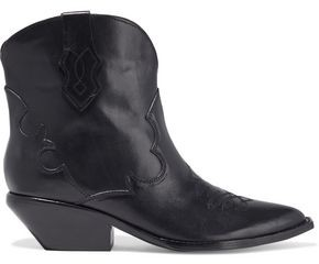 Sigerson Morrison Taima Embroidered Leather Ankle Boots