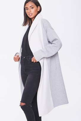 Forever 21 Heathered Colorblock Longline Coat
