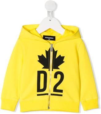 DSQUARED2 Logo Zipped Hoodie