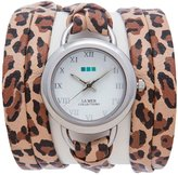 La Mer Women's LMSATURN1551 Retro Leopard Saturn Wrap Watch
