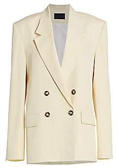 Proenza Schouler Women's Suiting Double Breasted Blazer - Size 0
