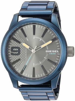 Diesel Men's Rasp NSBB Analog-Quartz Watch with Stainless-Steel-Plated Strap