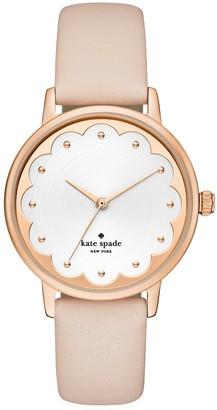 Kate Spade women's metro pink leather strap watch, 34mm