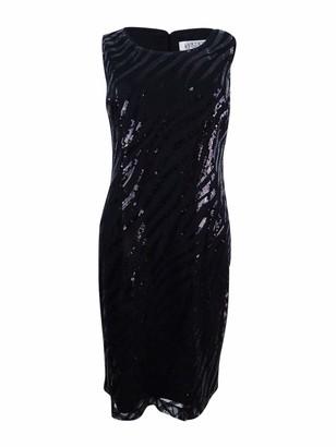 Kasper Women's Sequin Mesh Sheath Dress