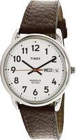 Timex Men's Easy Reader T20041 Leather Analog Quartz Watch
