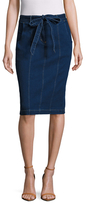 Plenty by Tracy Reese Belted Denim Pencil Skirt