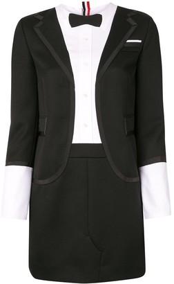 Thom Browne Trompe L'il Tuxedo Midi Dress