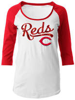 5th & Ocean Women's Cincinnati Reds Sequin Raglan T-Shirt