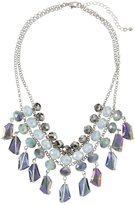 Fragments for Neiman Marcus Multihued Crystal Statement Bib Necklace