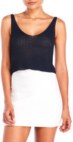 Olivaceous Sleeveless Knit Crop Top