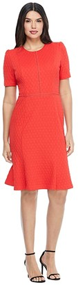 Maggy London Stretchy Knit Sheath Dress (High Risk Red) Women's Dress