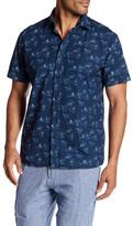 Toscano Palm Print Regular Fit Shirt