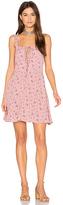 Flynn Skye Leila Lace Up Mini Dress in Mauve