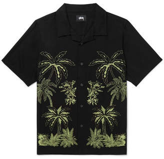 Stussy Camp-Collar Printed Woven Shirt