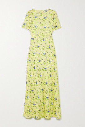BERNADETTE Jane Floral-print Silk-satin Maxi Dress - Yellow