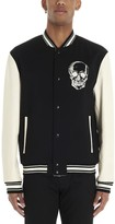 Alexander McQueen Skull Print Bomber Jacket