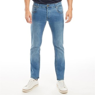 Onfire Mens Straight Fit Jeans Blue Wash