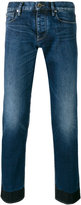 Emporio Armani regular-fit block hem jeans