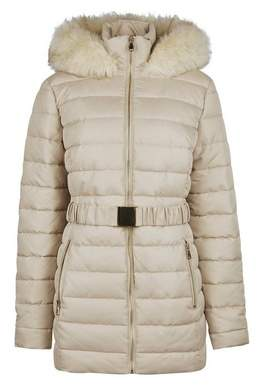 Dorothy Perkins Womens **Tall Champagne Short Luxed Padded Coat
