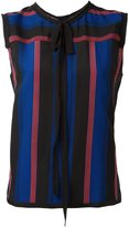 Marc Jacobs crêpe de chine striped top