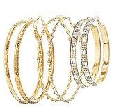 Charlotte Russe Textured & Embellished Hoop Earrings - 3 Pack