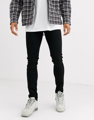 Weekday super skinny jeans in black