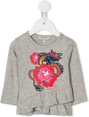 Kenzo Kids Dragon print top