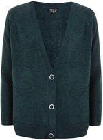 Topshop Marl Popper Button Cardigan